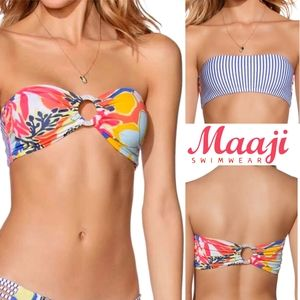 Maaji Swim - Maaji Banda Blues Bandeau Bikini TOP reversible